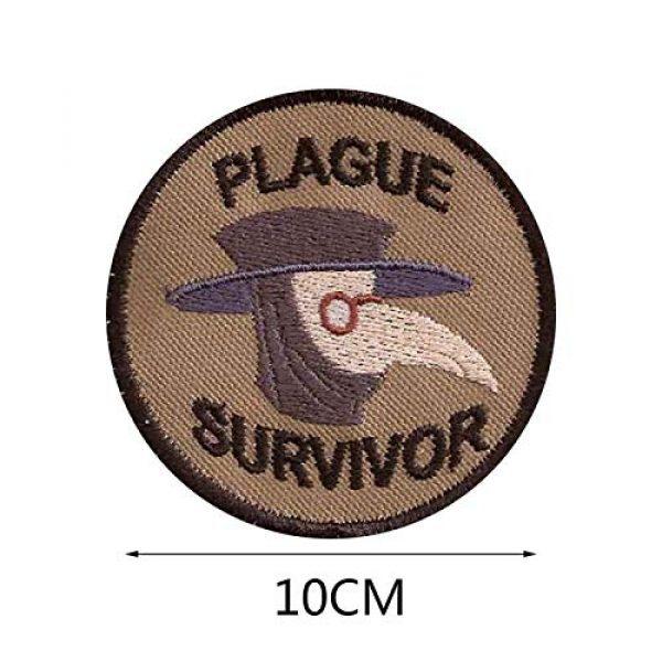 Esissenils Airsoft Morale Patch 8 Plague Survivor Geek Merit Badge Patch, 3PCS Patch Survivor Tactical Morale Embroidery Badge Hook and Loop Fastern Patches