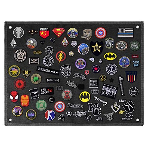 IronSeals Airsoft Morale Patch 6 IronSeals Tactical Board Patch Organizer Holder Display with Loop Surface, Steel Ring and Flag Patch