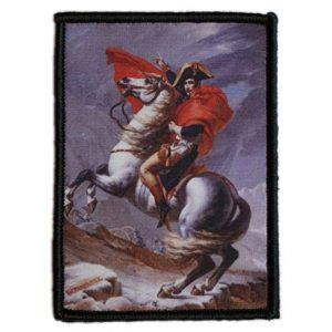 WAPPEN-YA DONGRI Airsoft Morale Patch 1 Morale Patch Hook and Loop Napoleon Crossing The Alps A0524