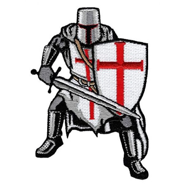 Cypress Collectibles Embroidered Patches Airsoft Morale Patch 1 Knights Templar Armor Patch Embroidered Iron-On Religious Crusades Military
