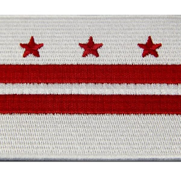 EmbTao Airsoft Morale Patch 2 Washington DC State Flag Embroidered Patch Iron On Sew On District of Columbia Emblem