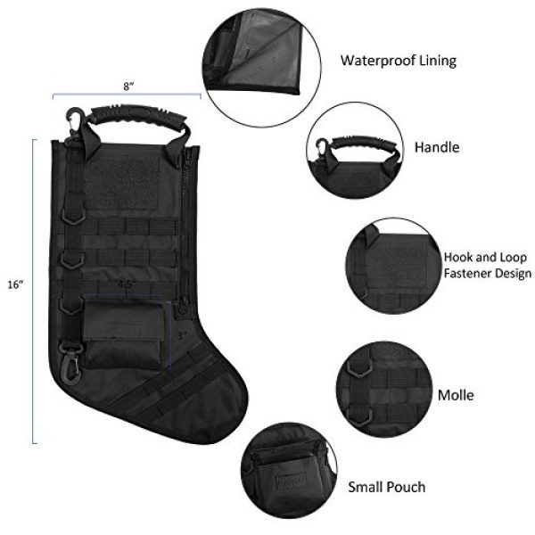 AIRSOFTPEAK Tactical Pouch 3 AIRSOFTPEAK Tactical Christmas Stocking Bag Design, Christmas Decoration Gift, Military with Molle Gear Webbing for Outdoor Hunting Shooting