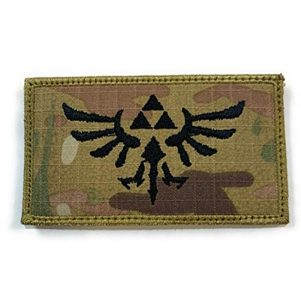 Almost SGT Airsoft Morale Patch 1 Zelda Symbol Logo Patch - Funny Tactical Military Morale Embroidered Patch Hook Backing(Camouflage)