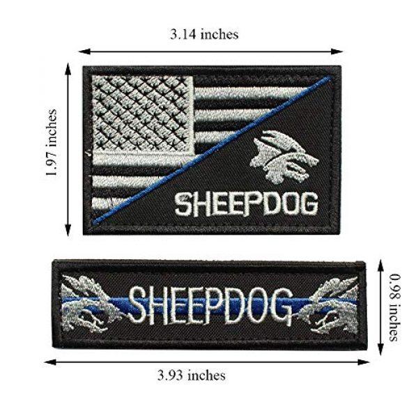 J.CARP Airsoft Morale Patch 2 Sheepdog Thin Blue line, Tactical USA Flag Patch