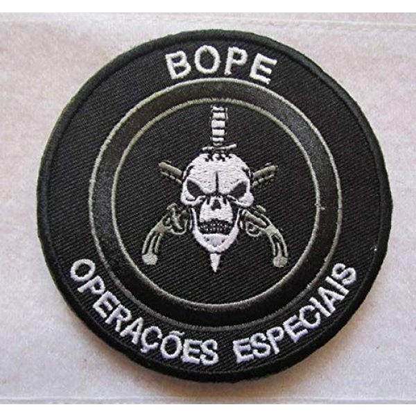 Embroidered Patch Airsoft Morale Patch 2 2pc BOPE Brazil Army Rio DE Janeiro TROPA DE Elite Troop 3D Tactical Patch Military Embroidered Morale Tags Badge Embroidered Patch DIY Applique Shoulder Patch Embroidery Gift Patch