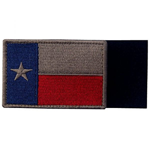 EmbTao Airsoft Morale Patch 3 EmbTao Texas Embroidered Tactical Fastener Hook&Loop Patch - Blue & Red