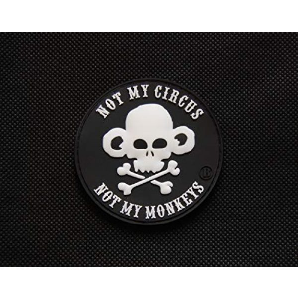 BritKitUSA Airsoft Morale Patch 1 BritKitUSA Not My Circus Not My Monkeys 3D PVC Morale Patch Hook Backing