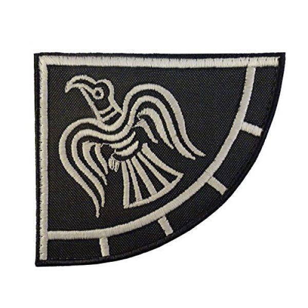 LEGEEON Airsoft Morale Patch 2 LEGEEON Glow Dark Rare Viking Raven Banner Odin God of War Embroidered Fastener Patch