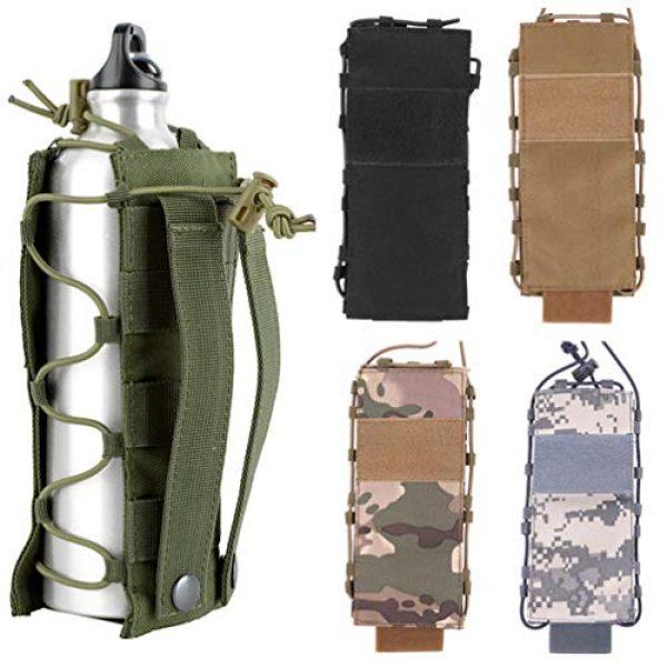 BESPORTBLE Tactical Pouch 5 BESPORTBLE Army Green Portable Outdoor Waist Pouch Sport Travel Elastic Water Bottle Bag Holder Kettle Carrier
