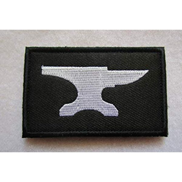 Embroidered Patch Airsoft Morale Patch 1 Blacksmith Anvil 3D Tactical Patch Military Embroidered Morale Tags Badge Embroidered Patch DIY Applique Shoulder Patch Embroidery Gift Patch