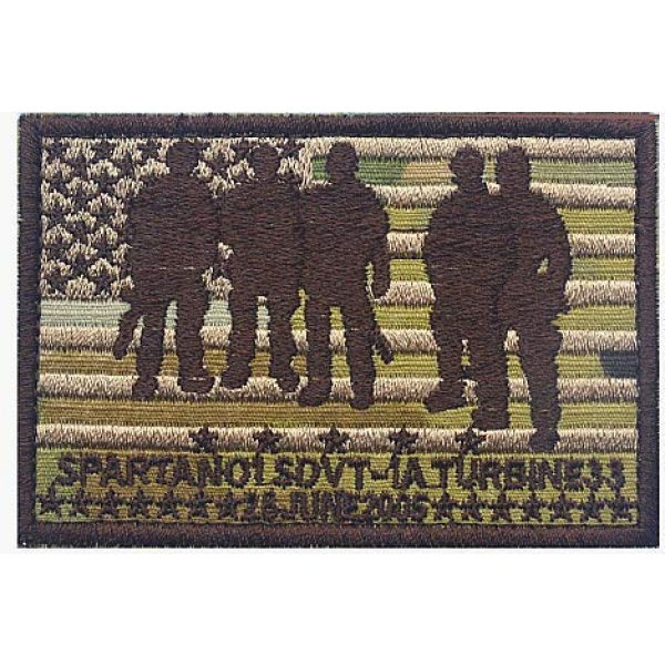 Embroidery Patch Airsoft Morale Patch 1 Seal Team Operation Red Wings Lone Survivor SDVT-1A Spartan 01 Military Hook Loop Tactics Morale Embroidered Patch (color1)