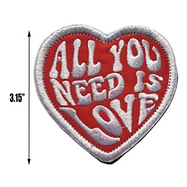 Xunqian Airsoft Morale Patch 2 All You Need is Love Military Heart Funny Embroidered Morale Hook & Loop Patch (B-Love Heart)