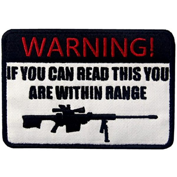 EmbTao Airsoft Morale Patch 1 If You Can Read This You are Within Range Tactical Military Morale Applique Fastener Hook & Loop Patch
