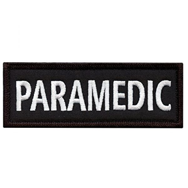 """LEGEEON Airsoft Morale Patch 1 LEGEEON Paramedic 5""""x2"""" EMS EMT Medical Body Armor Morale Tactical Embroidery Hook-and-Loop Patch"""