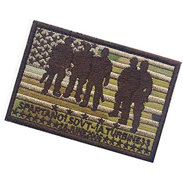 Embroidery Patch Airsoft Morale Patch 3 Seal Team Operation Red Wings Lone Survivor SDVT-1A Spartan 01 Military Hook Loop Tactics Morale Embroidered Patch (color1)