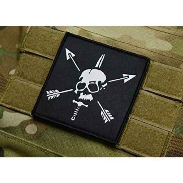 "BritKitUSA Airsoft Morale Patch 2 Special Forces Woven Morale Patch SFARTAETC Nous Defions CIF CQB Green Beret SF 3""x3"""