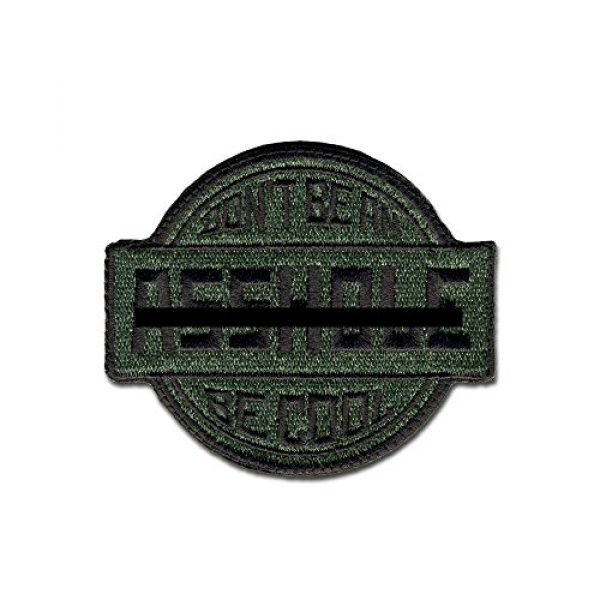 BASTION Airsoft Morale Patch 1 BASTION Morale Patches (Be Cool, Green) | 3D Embroidered Patches with Hook & Loop Fastener Backing | Well-Made Clean Stitching | Military Patches Ideal for Tactical Bag, Hats & Vest