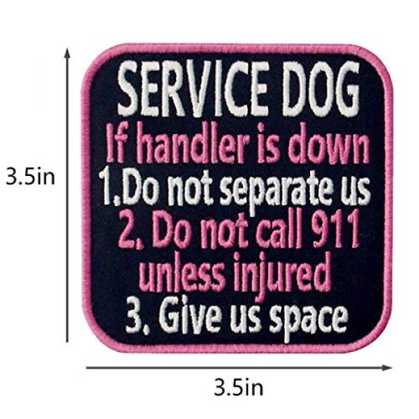 TailWag Planet Airsoft Morale Patch 5 Service Dog Medical Not All Disabilities are Visible Alert Vest/Harnesses Tactical Morale Patch Embroidered Badge Fastener Hook & Loop Emblem, 6 Pcs, Pink