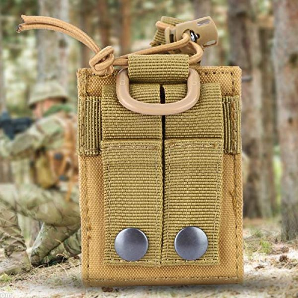 Vikye Tactical Pouch 4 Vikye Walkie Talkie Bag, Portable Tactical Military Walkie Talkie Bag, Pouch Radio Holder Case for Sports Outdoor