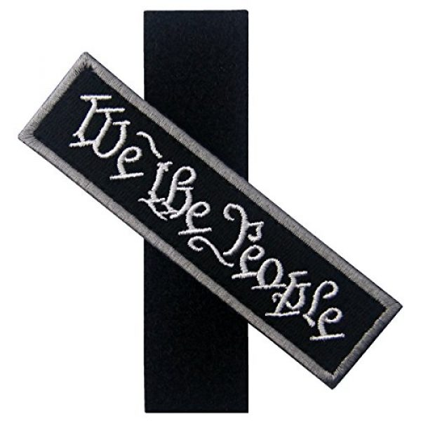 EmbTao Airsoft Morale Patch 5 We The People Tactical Embroidered Morale Applique Fastener Hook&Loop Patch - Black