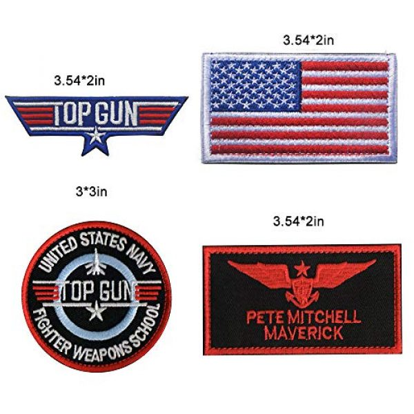 Zhikang68 Airsoft Morale Patch 2 Top Gun Movie Maverick Pete Mitchell Morale US Navy Air Force Aviator Embroidered Patch Military Tactical Army Gear for Hat Operator Baseball Cap Backpack Jacket Shirt DIY Sew On Costume Badge