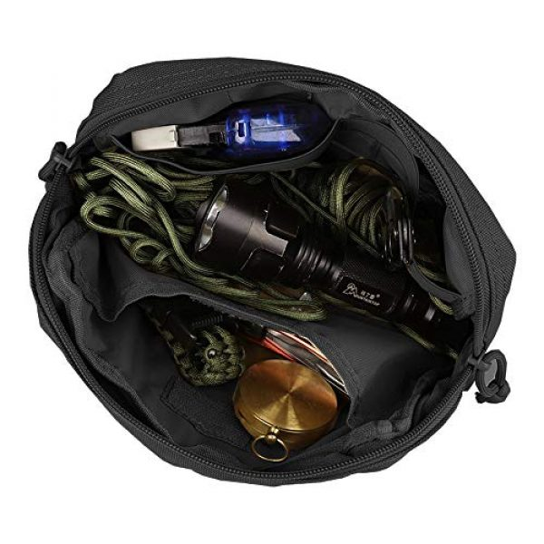 AMYIPO Tactical Pouch 5 AMYIPO Equipment Multi-Purpose Tactical Molle Admin Pouch EDC Utility Tools Bag Utility Pouches Molle Attachment Military Modular Attachment Small Pouch