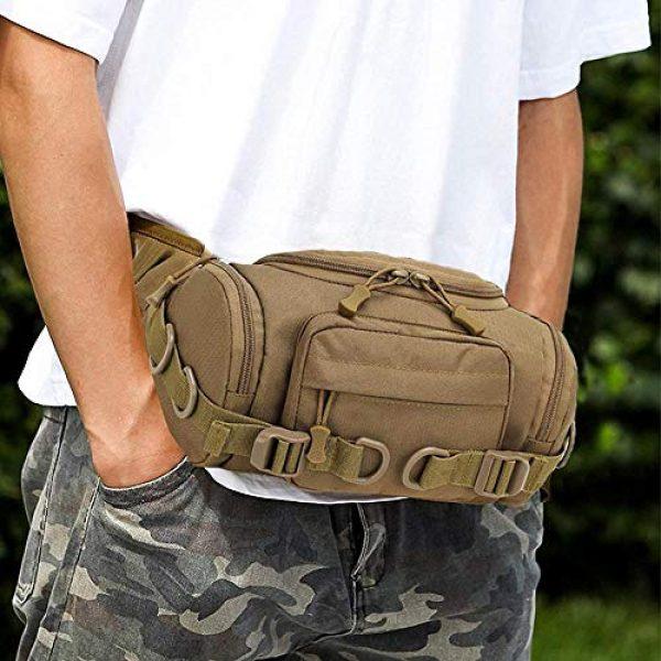 ACOMOO Tactical Pouch 2 ACOMOO Tactical Fanny Pack Portable Waist Bum Bag for Men Women Brown