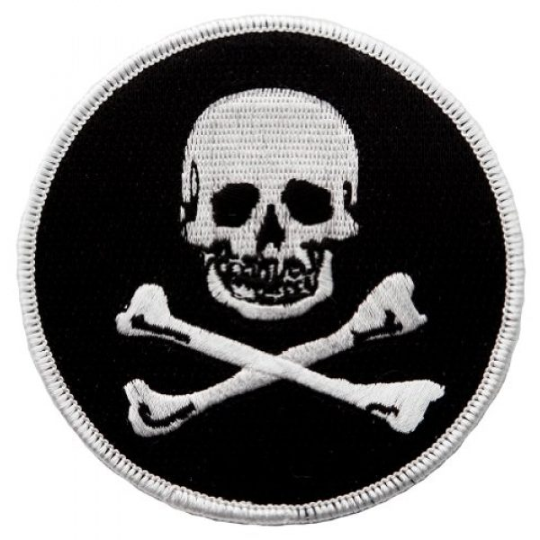 Cypress Collectibles Embroidered Patches Airsoft Morale Patch 1 Jolly Roger Embroidered Patch Pirate Skull Crossbones Iron-On Poison Emblem