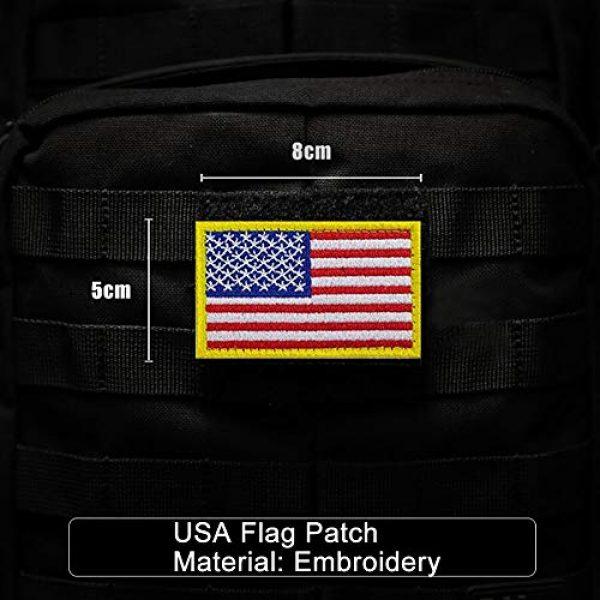 Bonng Airsoft Morale Patch 2 Bundle 14 Packs USA Flag Patches Thin Blue Line Tactical Military Morale Velcro Patch Set Morale Patches Set for Caps,Bags,Backpacks,Tactical Vest,Military Uniforms (color2)