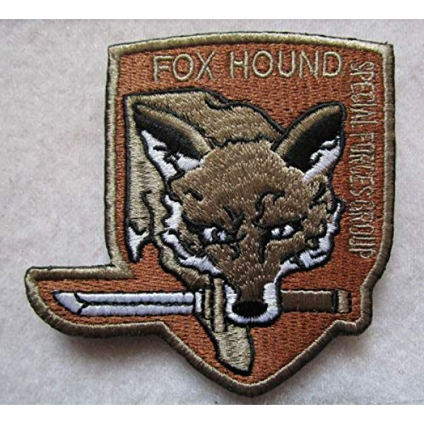 Embroidered Patch Airsoft Morale Patch 1 Metal Gear Solid Foxhound Fox Hound 3D Tactical Patch Military Embroidered Morale Tags Badge Embroidered Patch DIY Applique Shoulder Patch Embroidery Gift Patch