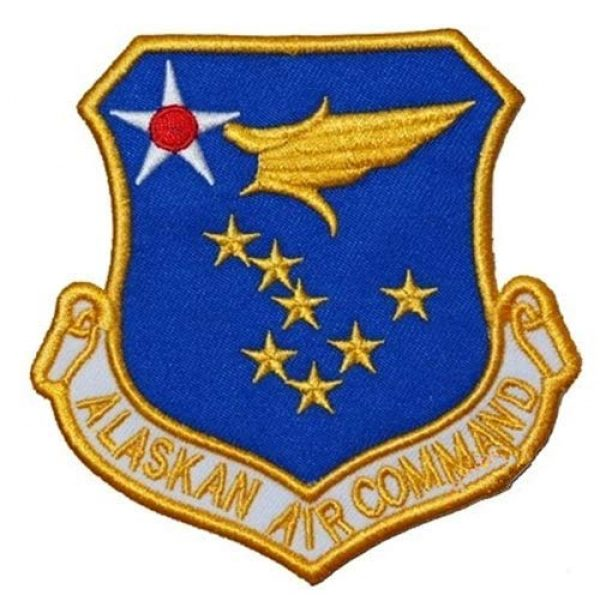 Tactical Embroidery Patch Airsoft Morale Patch 1 Alaskan Air Command Embroidery Patch Military Tactical Morale Patch Badges Emblem Applique Hook Patches for Clothes Backpack Accessories