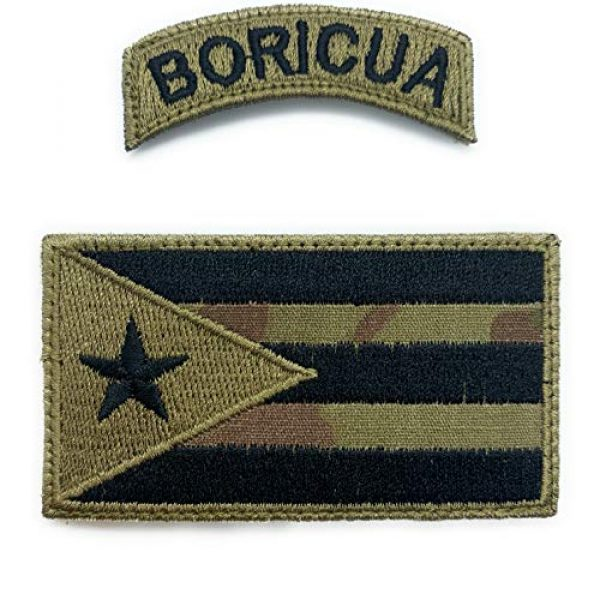 Almost SGT Airsoft Morale Patch 1 Puerto Rico Flag and Boricua Patches - Funny Tactical Military Morale Embroidered Patch Hook Backing(Camouflage)