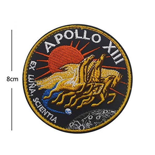 Zhikang68 Airsoft Morale Patch 2 18 PCS NASA Apollo Mission Patch Set 1,7,8,9,10,11,12,13,14,15,16,17,133,134,135 Space Patches 60th Annivers Embroidered Costume Applique Sew On Motorcycle Emblem for Travel Backpack Hats Jackets