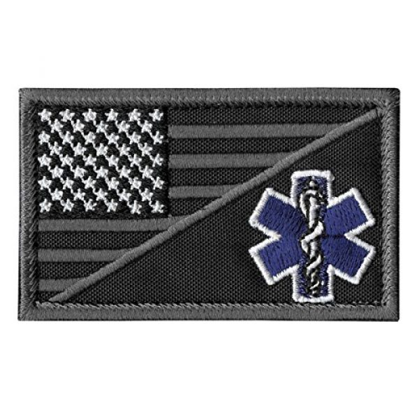 LEGEEON Airsoft Morale Patch 1 LEGEEON ACU EMS EMT Star of Life USA Flag Subdued Paramedic Medical Morale Tactical Army Gear Fastener Patch