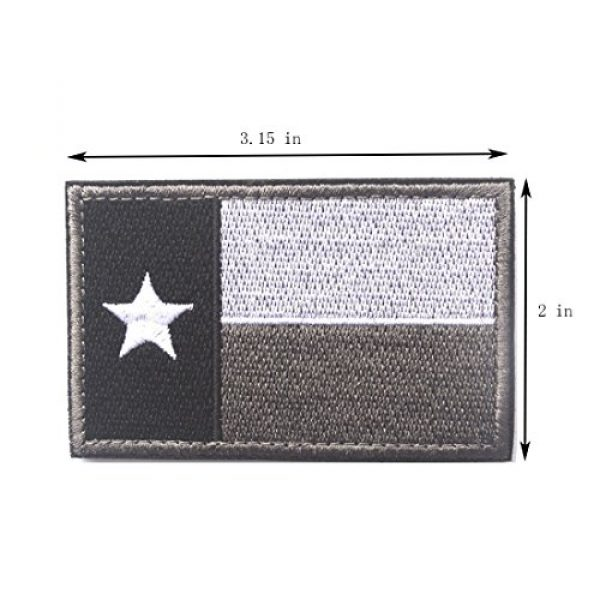 Homiego Airsoft Morale Patch 3 Homiego Texas State Flag Military Tactical Morale Desert Badge Hook & Loop Embroidery Patch for Hat Backpack Jacket (Texas State Flag - D)