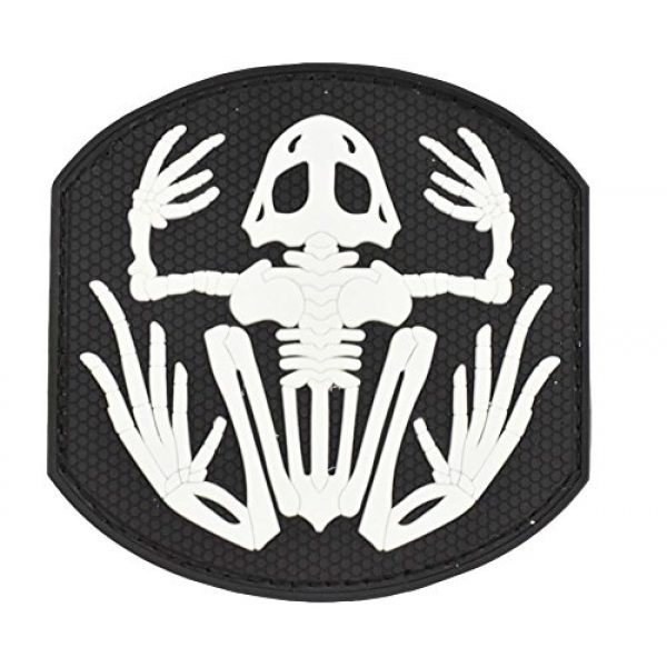 JFFCE Airsoft Morale Patch 1 Morale Patch Skeleton Frog Tactical Military Morale 3D PVC Patches(KW)