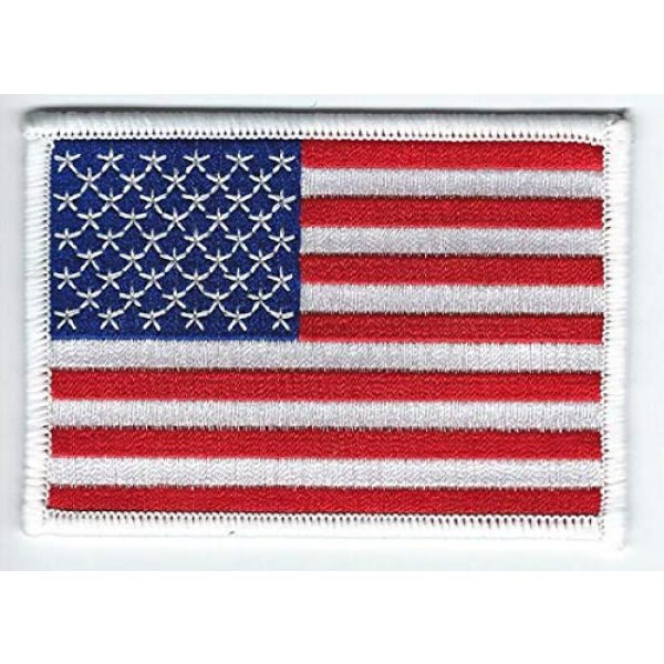 Five Digits Ltd Airsoft Morale Patch 1 United States of America Flag Embroidered Patch USA - Iron-On or Sew - Top Quality
