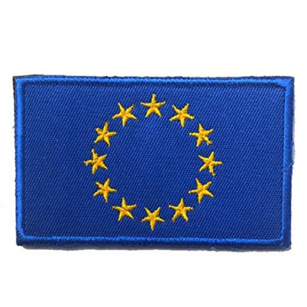 Tactical Embroidery Patch Airsoft Morale Patch 1 EU Flag Embroidery Patch Military Tactical Morale Patch Badges Emblem Applique Hook Patches for Clothes Backpack Accessories