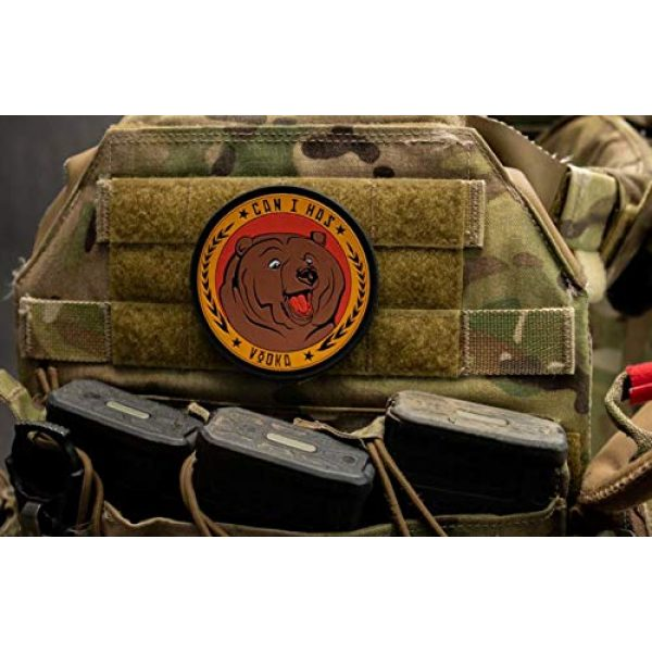 BASTION Airsoft Morale Patch 5 BASTION Morale Patches (Can I Has Vodka) | 3D PVC Patch with Hook & Loop Fastener Backing | Well-Made | Military Combat Badge Patches Ideal for Tactical Bag, Hats & Vest