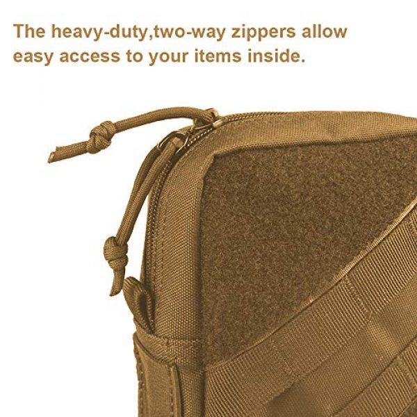 AMYIPO Tactical Pouch 5 AMYIPO Tactical Molle Admin Pouch Equipment Multi-Purpose EDC Utility Tools Bag Utility Pouches