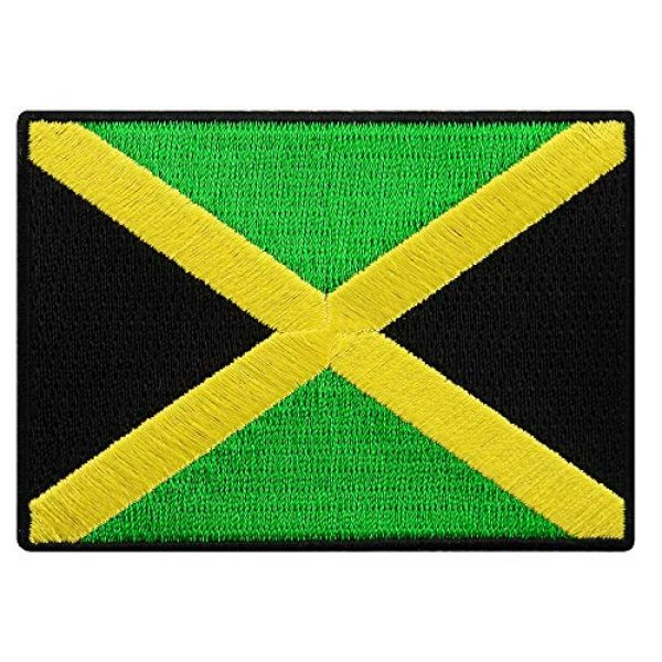 Cypress Collectibles Embroidered Patches Airsoft Morale Patch 1 Jamaica Flag Embroidered Patch Rasta Jamaican Iron-On Rastafarian National Emblem