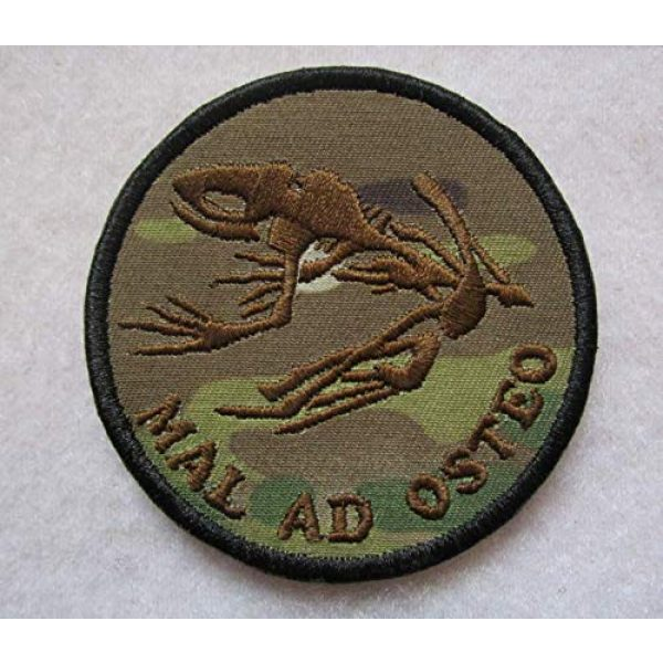 Embroidered Patch Airsoft Morale Patch 1 MAL AD Osteo US Navy Seals FROGMAN Bad to The Bone Warfare 3D Tactical Patch Military Embroidered Morale Tags Badge Embroidered Patch DIY Applique Shoulder Patch Embroidery Gift Patch