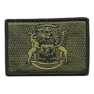 Gadsden and Culpeper Airsoft Morale Patch 1 Tactical State Patch - Michigan - View Colors