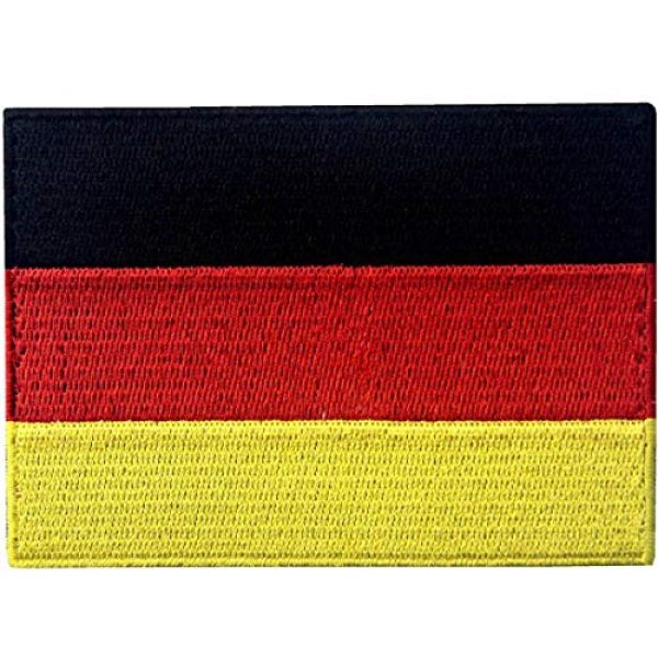 EmbTao Airsoft Morale Patch 1 EmbTao Germany Flag Embroidered Emblem German Applique Iron On/Sew On Patch