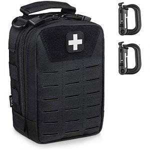WYNEX Tactical Pouch 1 WYNEX Tactical Medical First Aid Pouch - Laser-Cut Design, Molle EMT IFAK Bag Utility Pouches, EDC Survival Bag First Response 1000D Nylon Blow Out Emergency Kit Bags for Hiking Riding Camping