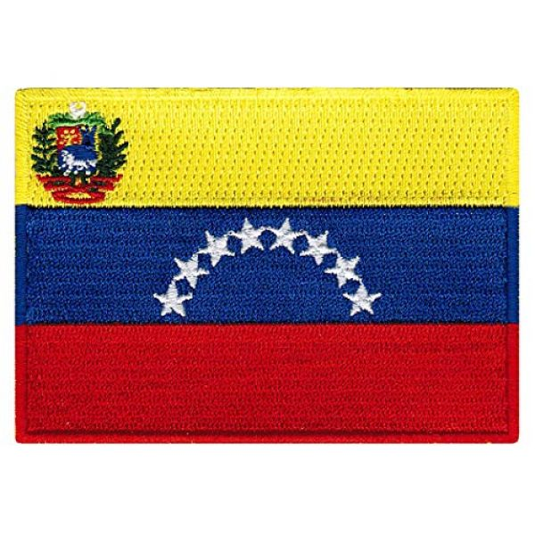 Cypress Collectibles Embroidered Patches Airsoft Morale Patch 1 Venezuela Flag Embroidered Patch Venezuelan Iron-On National Emblem