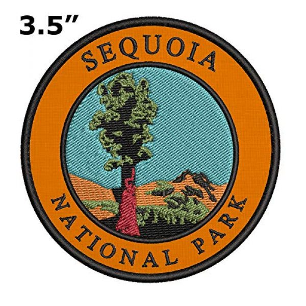"""Appalachian Spirit Airsoft Morale Patch 2 Sequoia National Park 3.5"""" Retro Embroidered Premium Patch DIY Iron/Sew-on Decorative Vacation Souvenir Applique Mountain Moon Stars Bear Wolf Wander Explore Nature Hike Trail River Cap Jacket Gear"""