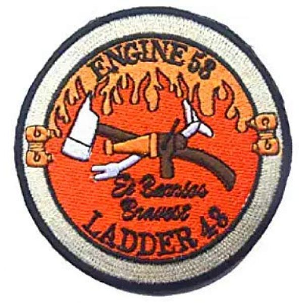 Embroidery Patch Airsoft Morale Patch 1 Warrior Red Wing Fireman Engine 53 Ladder 43 Lone Survivor Military Hook Loop Tactics Morale Embroidered Patch