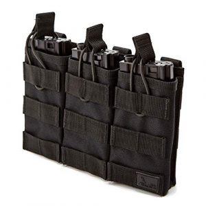 WOLF TACTICAL Tactical Pouch 1 WOLF TACTICAL Triple Rifle Mag Pouch - Open Top MOLLE Pouch for M4, M16, AK, AR15 Magazines - Attaches to Combat Vests, Rifle Cases, Backpacks - Holds 3 Mags
