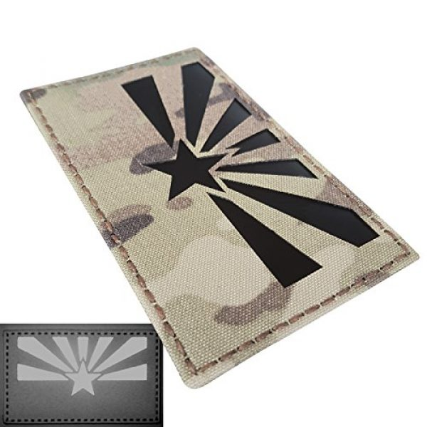Tactical Freaky Airsoft Morale Patch 3 Big 3x5 Multicam Infrared IR Arizona Flag IFF Tactical Morale Fastener Patch